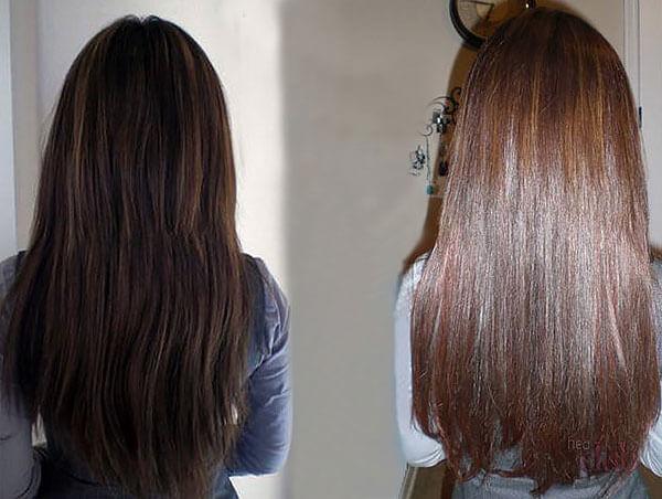 Видно не только изменение цвета, но и улучшение структуры волос.