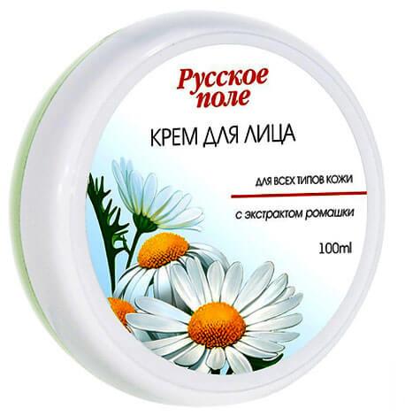 Один из самых простых кремов, в основе которого вазелин с добавлением экстракта ромашки.