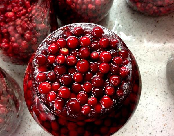 Если очень важно сохранить вкус ягод, вместо сиропа лучше использовать простую воду.
