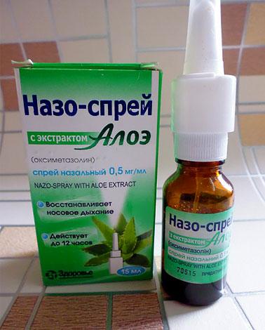Основное действие при использовании этого препарата оказывает оксиметазолин.